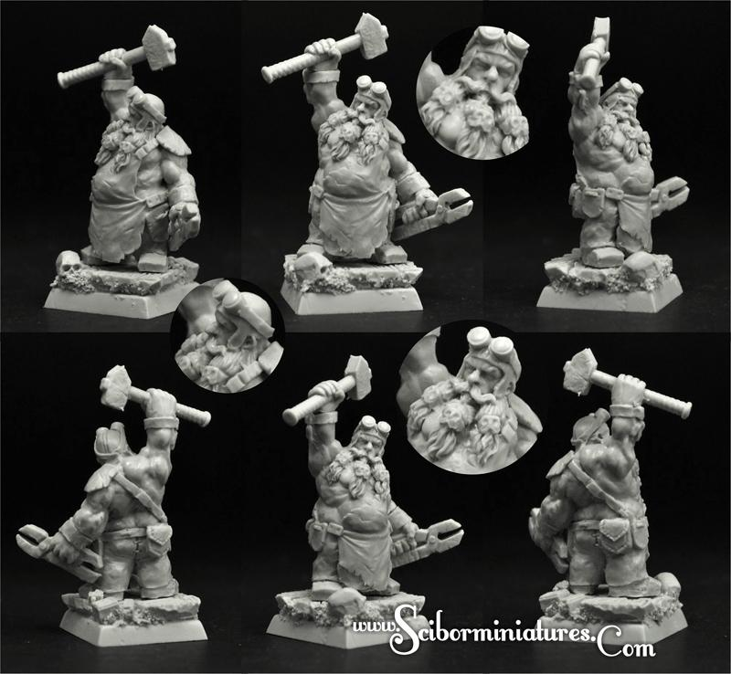 28mm/30mm Dwarf Blacksmith #1