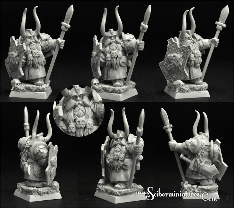28mm/30mm Dwarf Lord Wolfrik