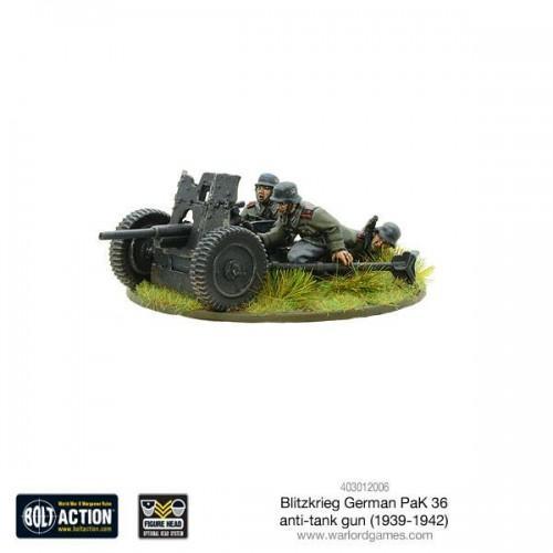 Blitzkrieg German Pak 36 anti-tank gun