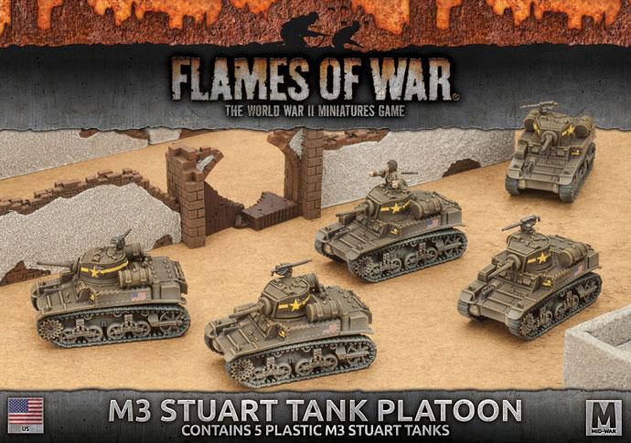 M3 Stuart Light Tank Platoon (5x Plastic)