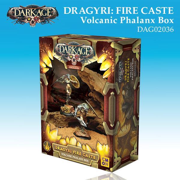 Dragyri Fire Caste Volcanic Phalanx Unit Box