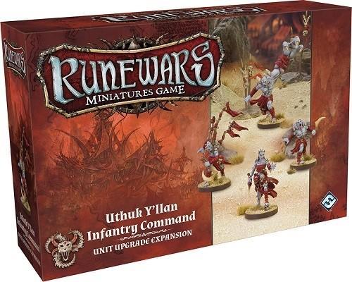 Uthuk Y'llan Infantry Command Unit Upgrade Expansion: Runewars Miniatures Game