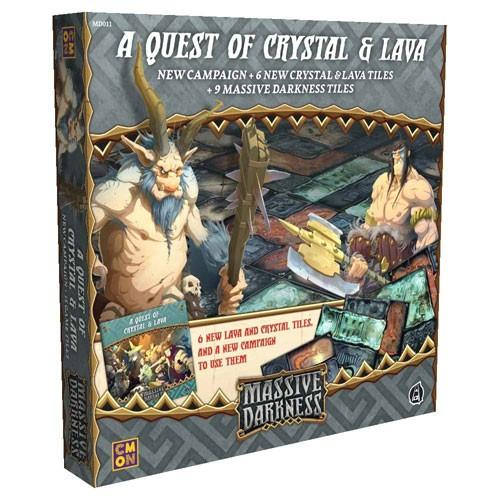 A Quest of Crystal and Lava Tile Set: Massive Darkness