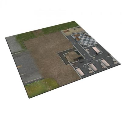 Deluxe Prison Grounds Mat: The Walking Dead All Out War Miniatures Game Exp.