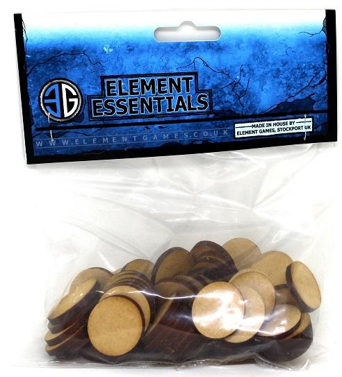Element 25mm Plain MDF Base Pack of 60