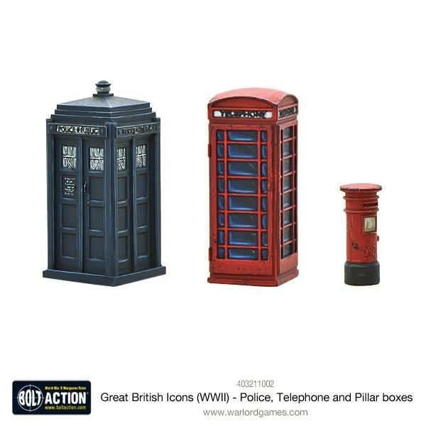 Great British Icons Police, Telephone and Pillar boxes