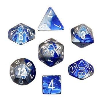 Gemini Poly 7 Set: Blue-Steel/White
