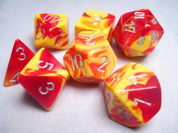 Gemini Poly 7 Set: Red-Yellow/Silver