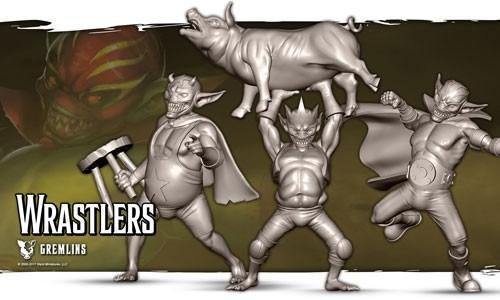 Wrastlers (box of 3)