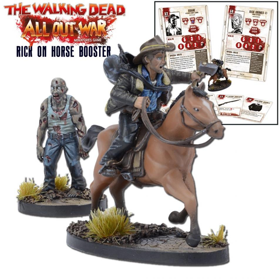 Miniatures Booster Rick on Horse