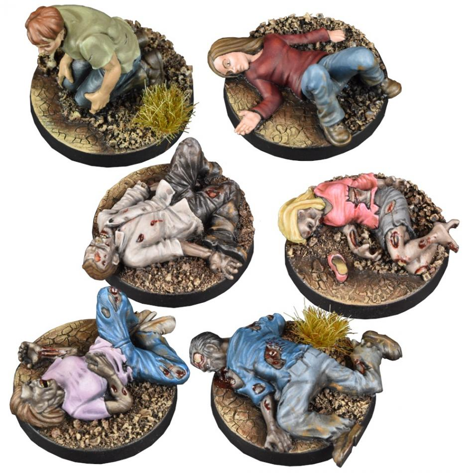 Prone Figures Booster: The Walking Dead All Out War Miniatures Game Exp.