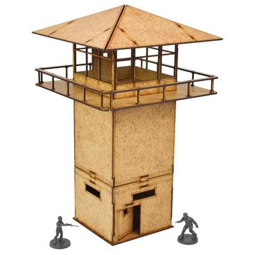 The Walking Dead Prison Tower MDF Scenery Set