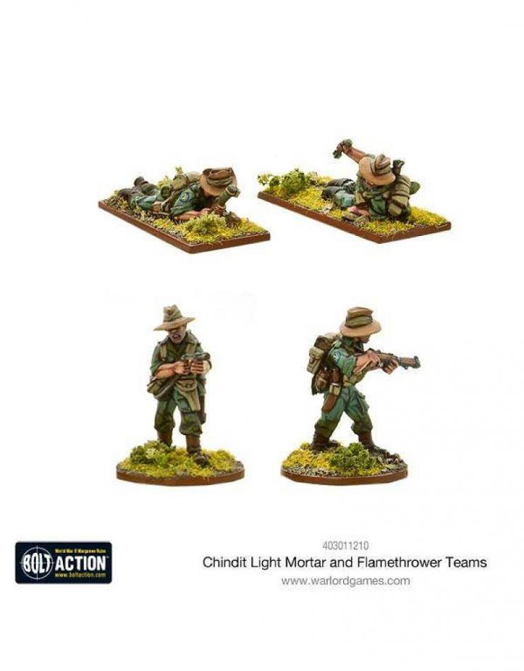 Chindit Flamethrower & Light mortar teams
