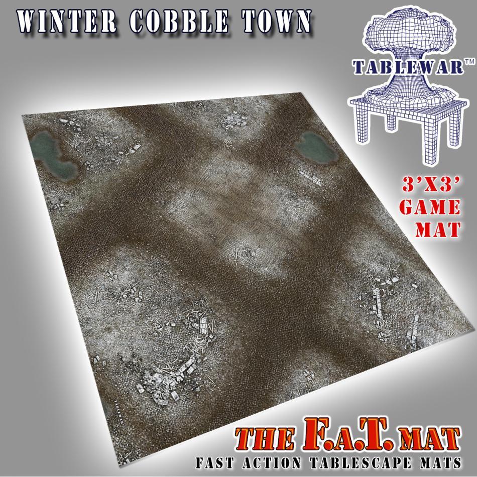 3x3 Winter CobbleTown F.A.T. Mat