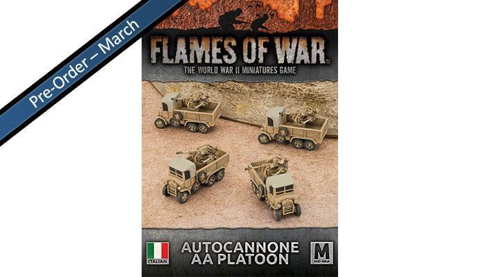 Italian Light AA Gun Platoon (x4 20/65 Autocannon)