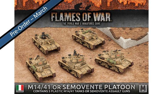 Italian M14/41 Tank Platoon (Plastic, x5)