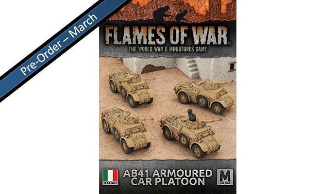 Italian Armoured Car Platton (x4 AB41)