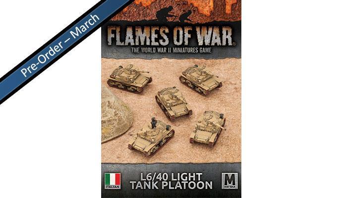 Italian Light Tank Platoon (x5 L6/40)