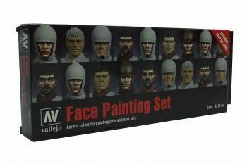 AV Vallejo Model Color Set - Faces Painting Set (x8)