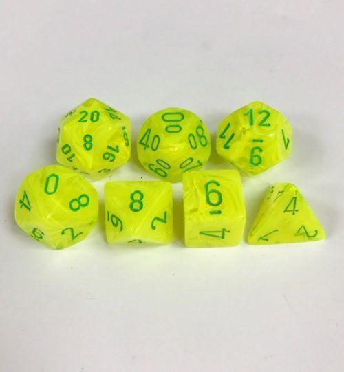 Poly 7 Set: Vortex Electric Yellow/green