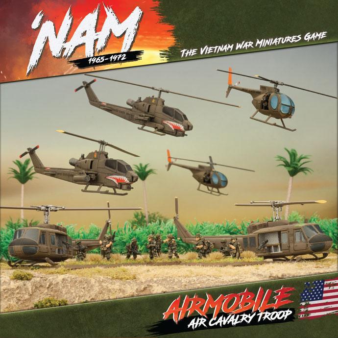 US Airmobile Army (2 x AH-1 Hueycobra, 2 x OH-6A Loach, 2 x US Slick, 3 x MG teams)