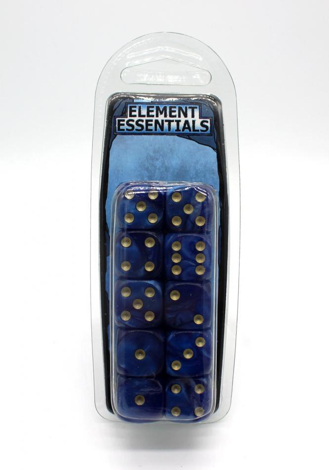EG 16mm Cobalt Blue Dice x10