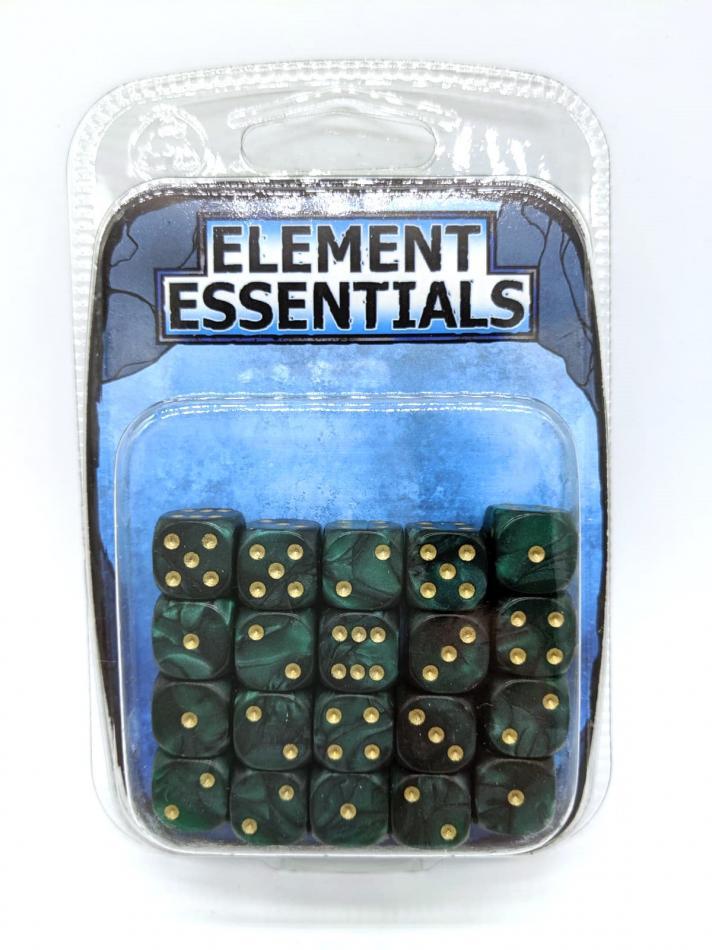 EG 12mm Emerald Green Dice x20