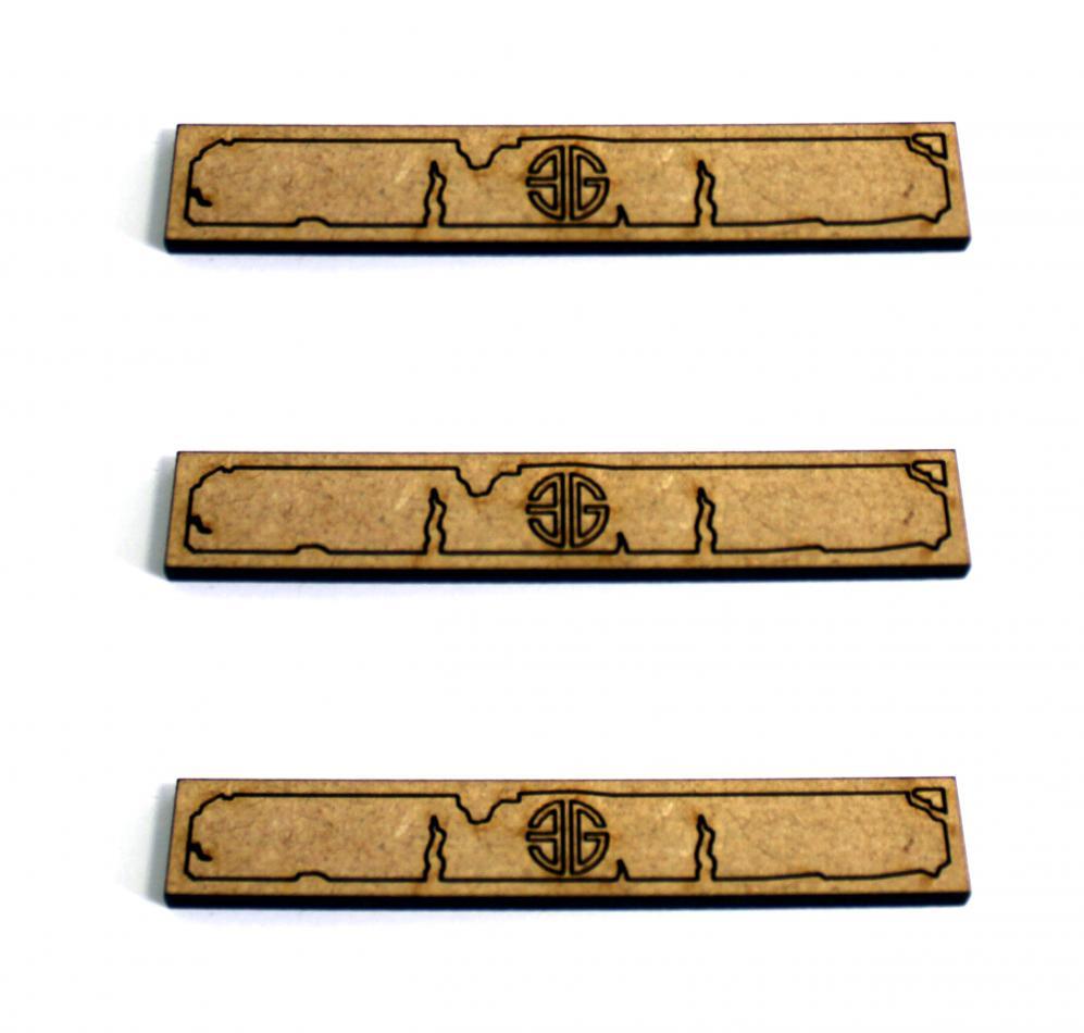 Element Essentials 3 Inch MDF Measuring Stick (Pack of 3)