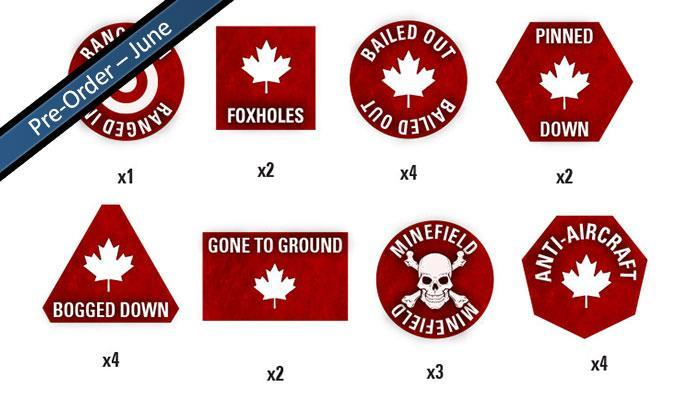 Team Yankee Canadian Token Set