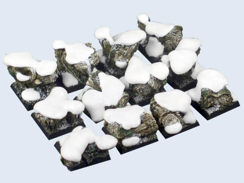 Winter Forest Bases, 20x20mm (5)