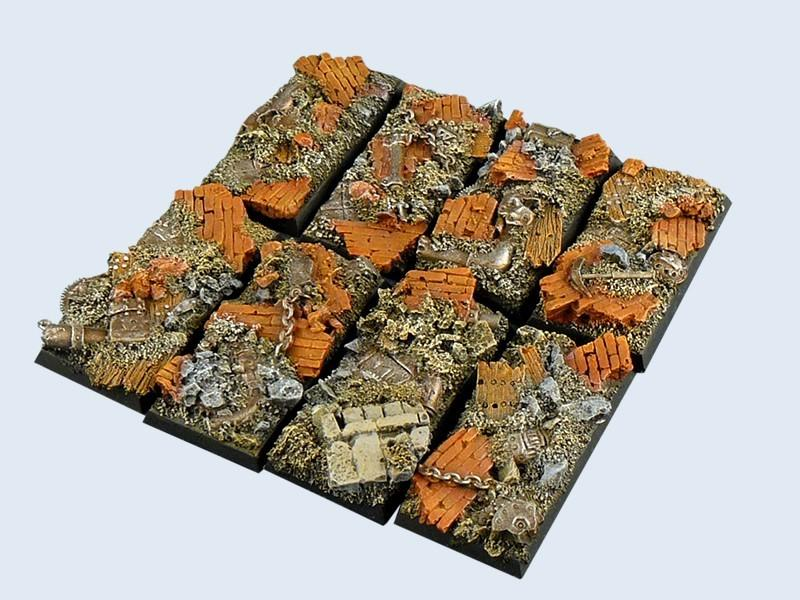 Old Factory Bases, Cavalry 25x50mm (4)