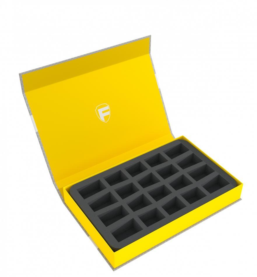 Feldherr Magnetic Box yellow for 20 smaller miniatures
