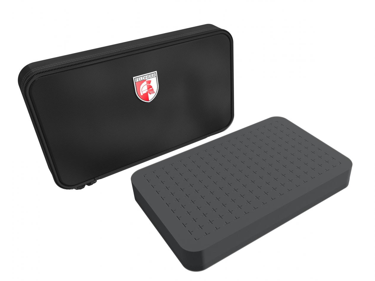 Feldherr MINI MINUS CASE with half-size Raster Foam insert