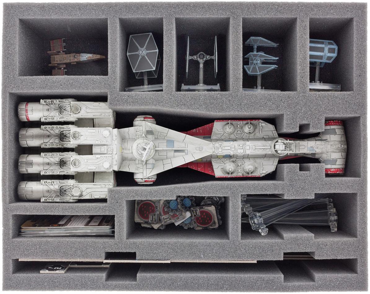 FSBF090BO (3.54 inches) foam tray for Star Wars X-WING Tantive IV (CR90)
