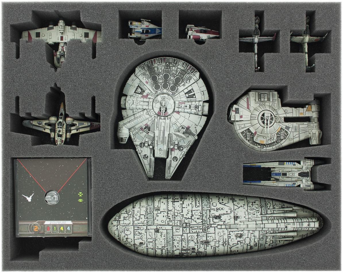 FSJN090BO 90 mm (3.54 inches) full-size foam tray for Star Wars X-WING Tantive IV (CR90) and Ghost