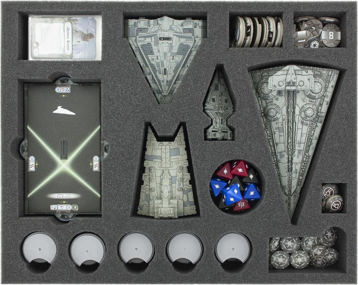 FSKQ045BO 45 mm (1.77 inches) full-size foam tray for Star Wars Armada: Empire