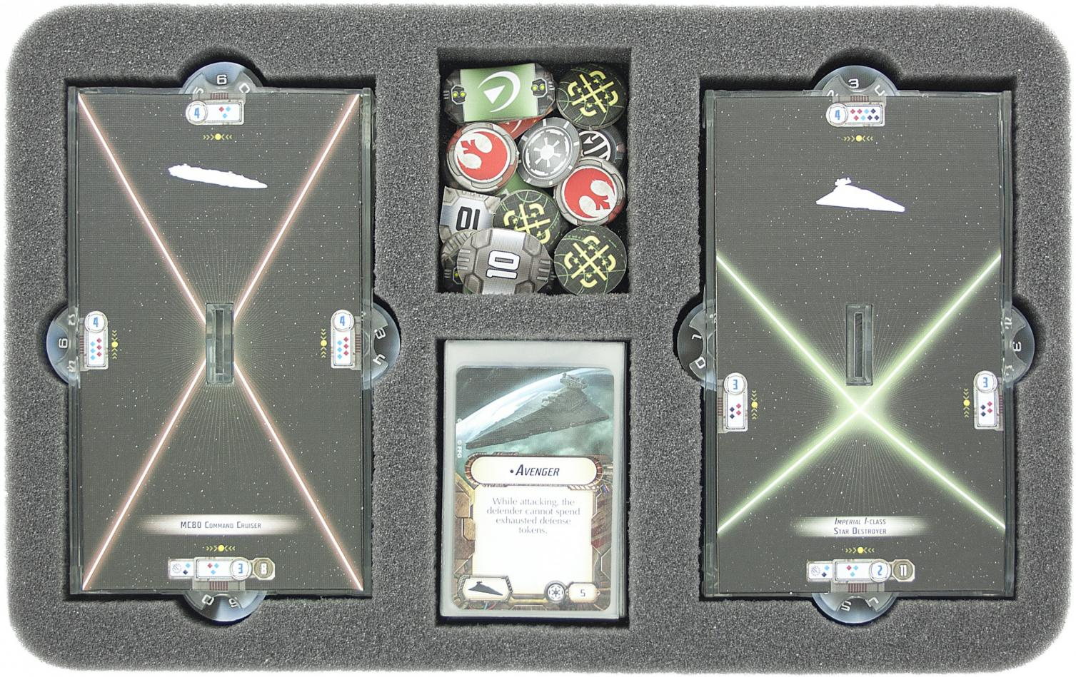 HSDS030BO foam tray for Star Wars Armada Wave 2 accessories