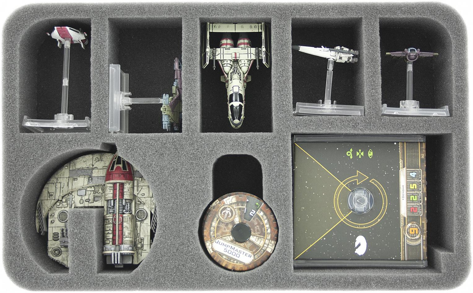 HSEG050BO foam tray for Star Wars X-WING Punishing One, 5 ships and accessories