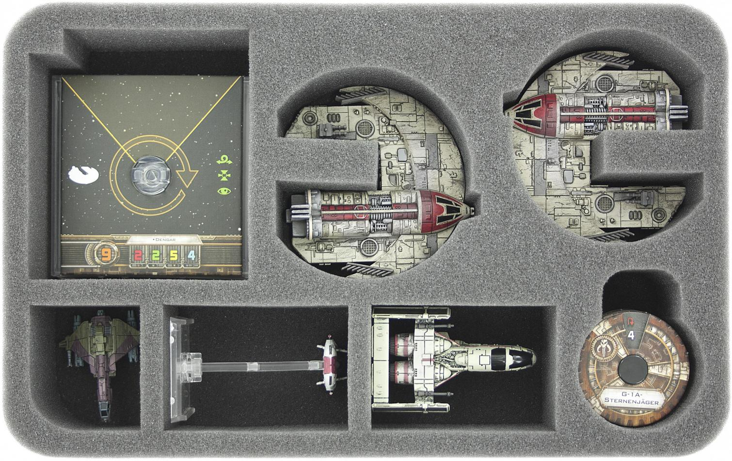 HSEH050BO foam tray for Star Wars X-WING 2 x Punishing One, 3 ships and accessories