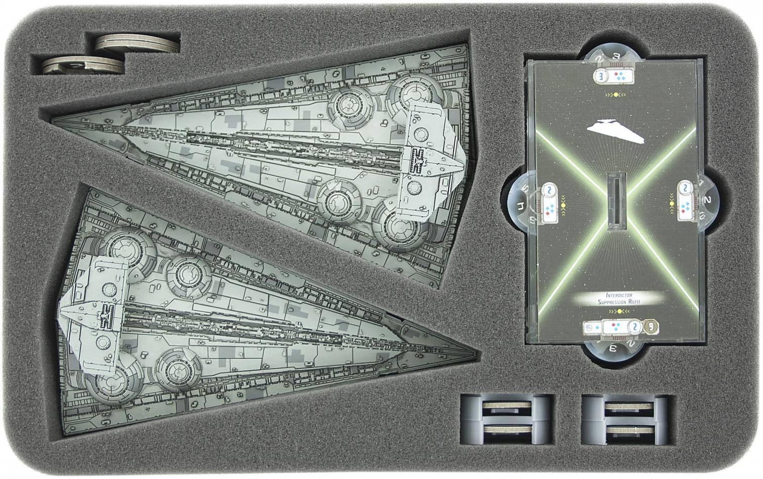 HSFT045BO foam tray for Star Wars Armada Wave 4 Interdictor