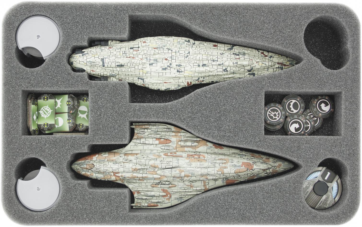 HSFU040BO foam tray for Star Wars Armada Wave 4 MC80 Liberty type Star Cruiser and Home One