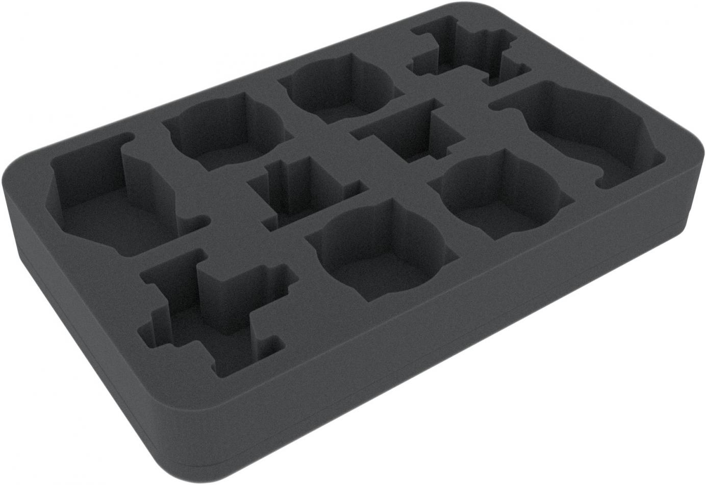 HSMEAH040BO 40 mm foam tray for Star Wars X-Wing Kimogila Fighter, Quadjumper and H-6 Scurrg Bomber