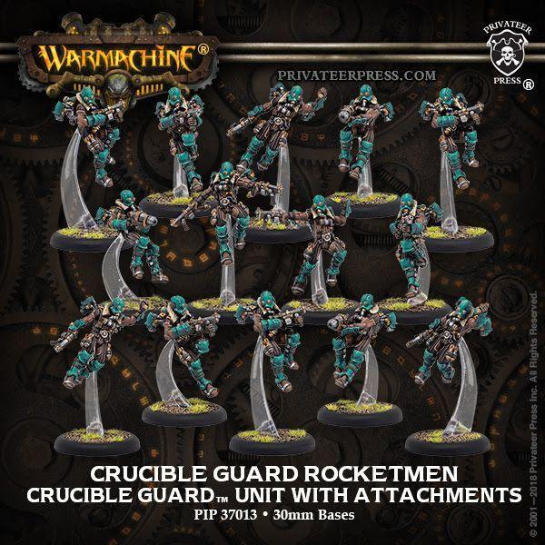Golden Crucible Unit Guard Rocketmen & CA (15)   all metal