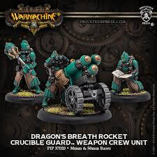 Golden Crucible Rocket Weapon Crew Dragons Breath  inc resin