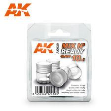 AK Interactive - Mix 'N' Ready Glass Jars 4 x 10ml