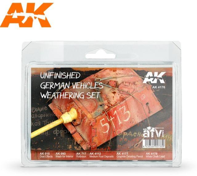 AK Interactive - Unfinished German Vehicles Weathering Set