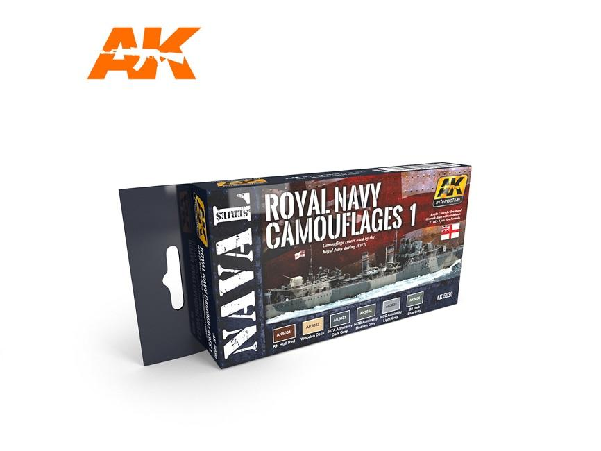 AK Interactive Set - Royal Navy Camouflages Set 1