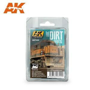 AK Interactive Set - Basic Dirt Effects Set, Train Series