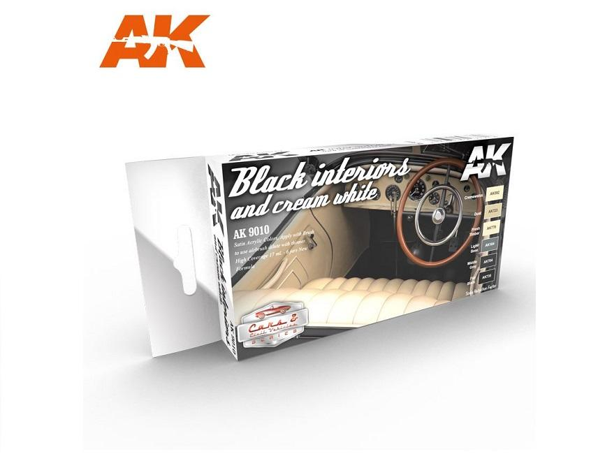 AK Interactive Set - Black Interiors & Cream White Set