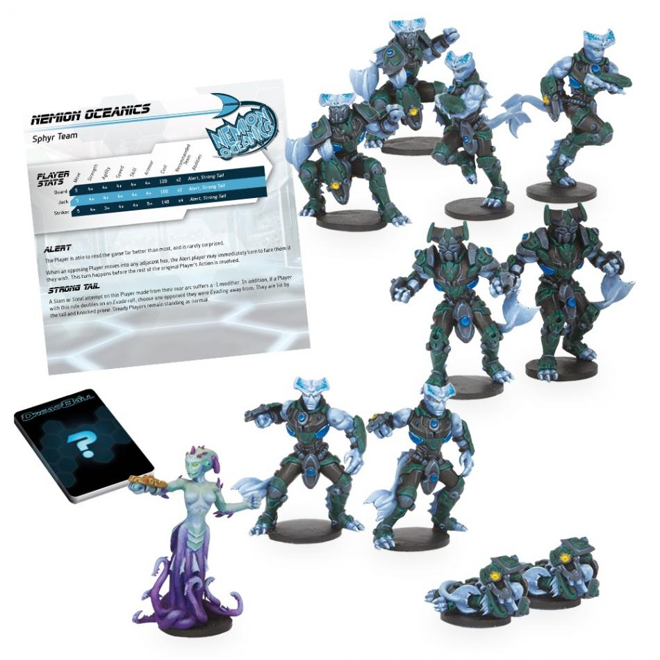 Dreadball: Nemion Oceanics - Sphyr Team